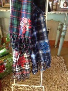 These have the Scottish thistle design which I made for my Outlander friends.